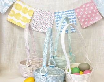 Colorful Easter Basket with Handle