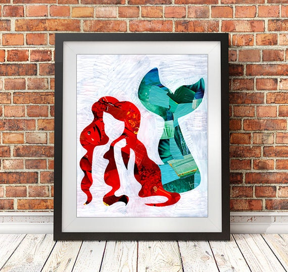 Mermaid Gifts Mermaid Decor Mermaid Art Print Mother S
