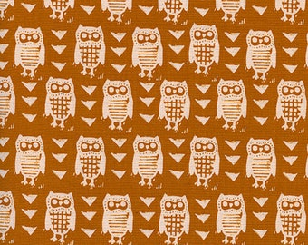 Cotton and Steel Hooties Earth by the Half Yard