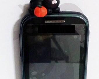 Halloween black kitten for smartphones