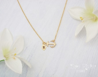 Rose gold anchor Etsy