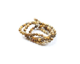 20 Jasper beads 4 mm LBP00653