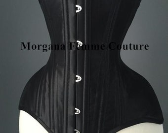 Heavy corsetry satin sateen coutil tightlacing waist training custom made corset