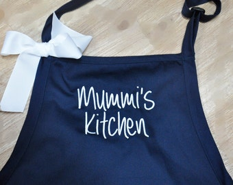 Personalized Apron, Monogrammed Apron, Custom Embroidered Apron, Chef Apron Personalized, Gift for Dad, Apron with Pockets