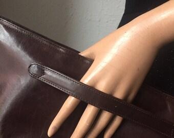 Bottega Veneta leather clutch