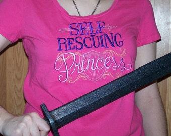 Self Rescuing Princess Women's Tee size LG(12-14)