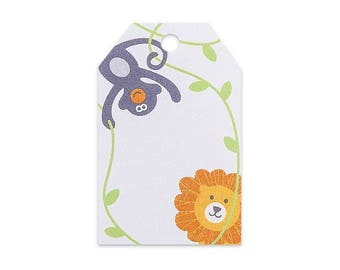 Jungle Animals Printed Gift Tags - 2 1/4 x 3 1/2 - 50 Pack