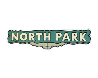 NORTH PARK  STICKER | Vinyl | Waterproof