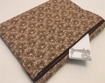Composition Notebook Journal Cover, Brown Floral
