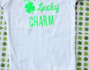 St. Patrick's Day Onesie//Toddler T-shirt/Mama's Lucky Charm/Four Leaf Clover/Irish Onesie/St. Patrick's Day Baby/Lucky Charm Onesie