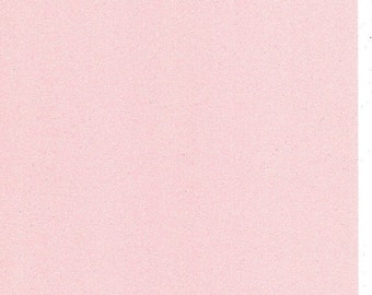 Pastel Baby Pink Glitter Card A4 soft touch low shed 1 sheet