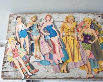 Vintage Paper Doll Lot No. 6 Paper Paper Ephemera Pinup Pin Up Girl