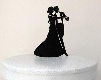 Wedding Cake Topper - dancing wedding, dancing wedding cake topper