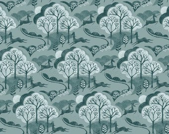 Into The Woods - Trees in Teal - Fat Quarter
