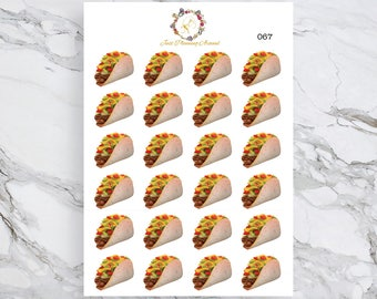 Taco Stickers, Food Stickers, Mexican Food Stickers, for use with  Erin Condren, Happy Planner