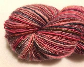 Handspun Yarn - PRINCESS BUBBLEGUM - Superwash Merino