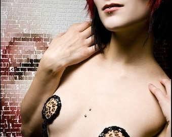 Jungle Kitty Pasties by Deanna Danger Designs (Sizes L or XL)