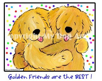 Golden Retriever Golden Friends LONGSLEEVE SHIRT