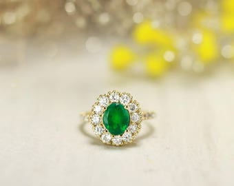 ONE-OF-A-KIND: Emerald and Diamond Engagement Ring