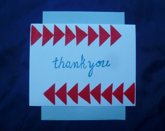 Red Arrow Thank You Card