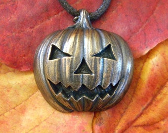 Bronze Jack o' Lantern Pendant