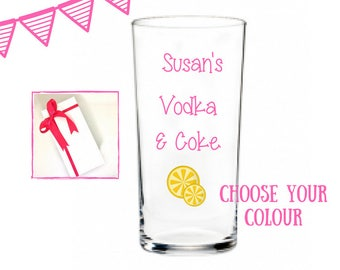 vodka lover gifts, vodka gifts, vodka glasses, personalised vodka glass, personalised glasses, gift ideas for women, gifts young women