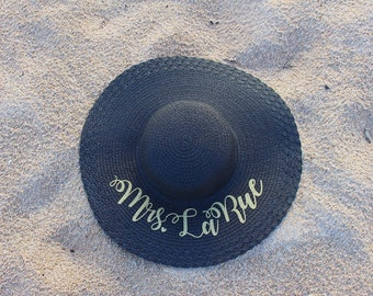 Personalized Mrs.Honeymoon Sun Hat