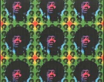 Jimi Hendrix 9 Panel Blotter Art by Monkey