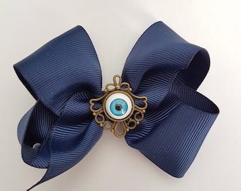 Blue Eyeball Hair Clip