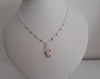 Sapphire and Topaz Necklace