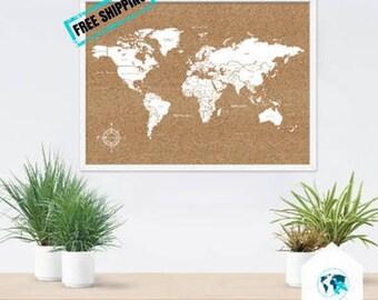 Cork Board World Map,cork world map,pin board world map,carte du monde liège,cork world map,weltkarte kork,cork board map,cork globe
