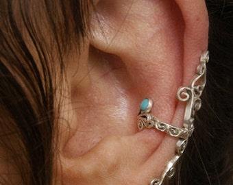 Turquise Ear Ring (cuff)