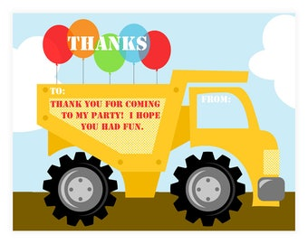 PRINTABLE Construction Thank Yous - #DIY #Printable #Digital #File (instant download)