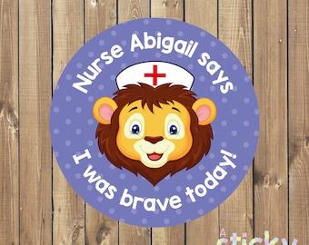 Personalized Nurse Bravery Stickers, Doctor Stickers, Nurse Stickers, Medical Stickers, Nurse Gift, New Nurse Gift Idea, Custom Stickers