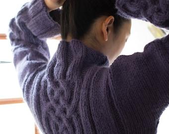 Women Celtic sweater  - Cable knit sweater - handknit sweater - chunky sweater - warm jumper - winter sweater -Wool & Alpaca