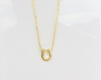 Horseshoe Necklace Gold • Safe to Get Wet • The Perfect Good Luck Charm Gift To Give And Receive