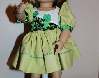 St Patrick's Doll Dress