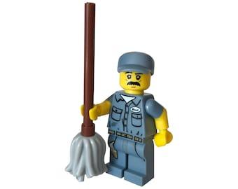 Janitor MiniFigure Authentic LEGO®  parts / School custodian