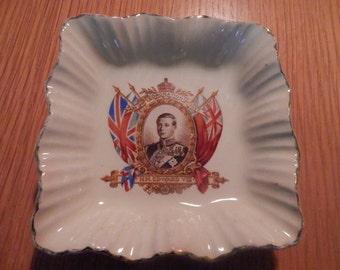 Edward VIII Souvenier Dish Coronation 12 May 1937 Sunshine J&G Meaking England