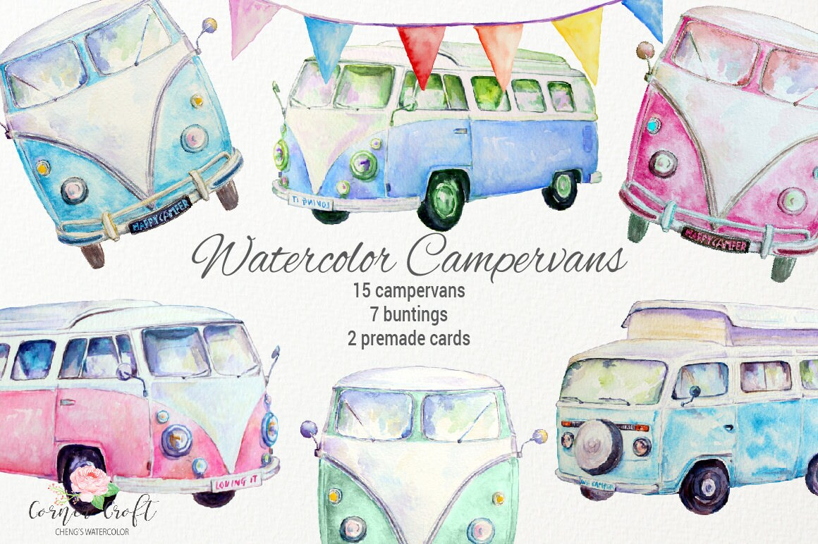 Campervans Blue Painted