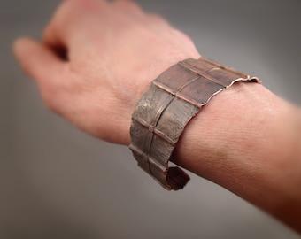 Foldformed Copper Bracelet