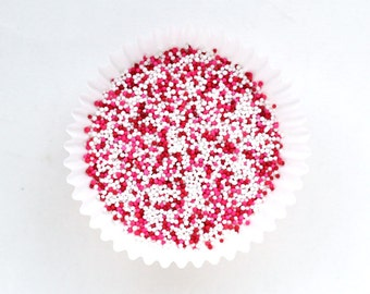 Valentine's Day Nonpareil Sprinkles - Red, Pink & White Mix (2 ounces) Cookie and Cupcake Sprinkles