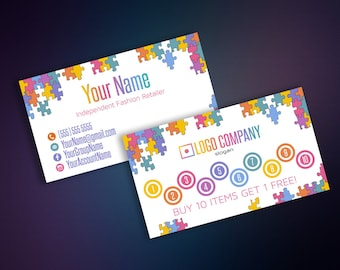 Lularoe business cards etsy punch cards business cards buy 10 get 1 free reward card business colourmoves