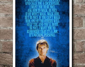 "ROAD HOUSE - DALTON ""It's Nothing Personal"" Quote Poster"