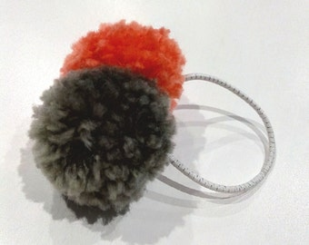 Hair paste for girl with Pompom wool colors
