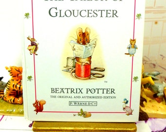The Tailor of Gloucester Beatrix Potter Beautiful Illustrations Vintage Hardback Book 1st Edition Thus