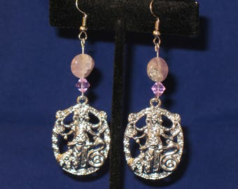 Goddess Hecate Amethyst Bead Earrings Magic Witchcraft Crossroads