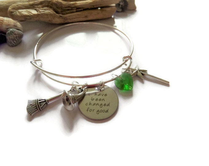 Wicked bracelet, musical bangle, musical gift, witch bangle, witch bracelet, friends gift, oz bracelet gift, changed good gift,sandykissesuk
