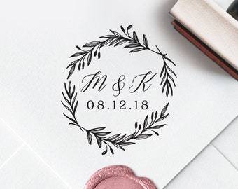Custom Initial Stamp, Custom Self-Inking Stamp, Self Ink Return Letter Stamp, Wedding Favors, Initial Stamp, Ship from the U.S., PS101