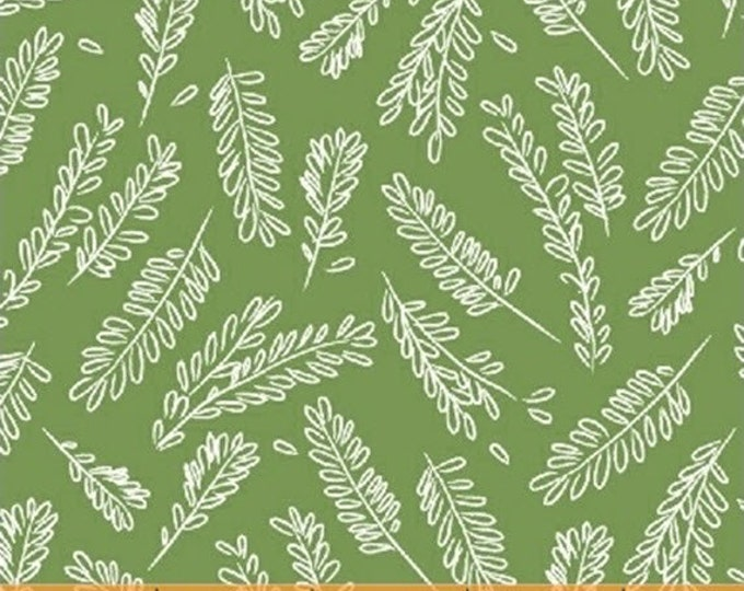 CUCINA - Herbs in Green - Italian Kitchen Floral Cotton Quilt Fabric - by Victoria Johnson for Windham Fabrics - 42612-7 (W4694)